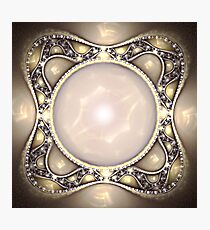 Pearl Brooch Photographic Print
