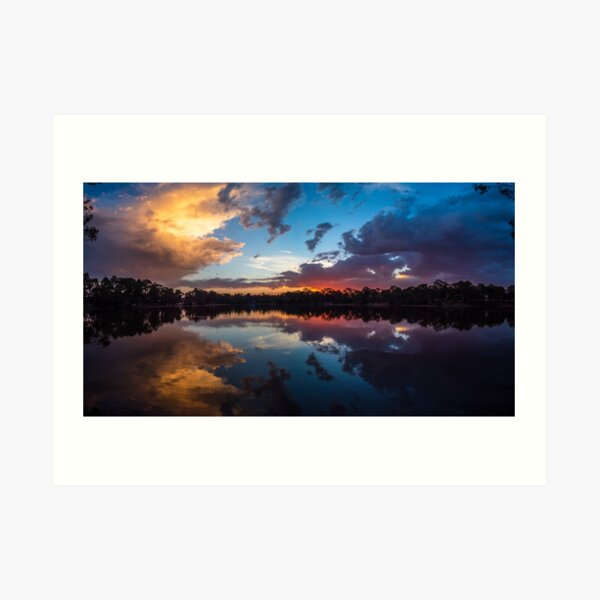 Kennington Reservoir Sunset Art Print