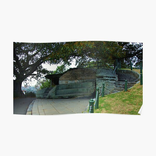 Mrs Macquarie's Chair, Sydney, NSW. Poster
