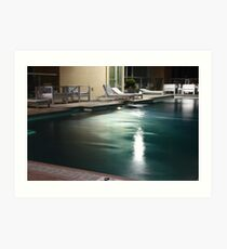 Terrazzo Nashville - Pool Deck at Nightfall  Art Print