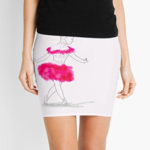 Pink Ballerina illustration Mini Skirt
