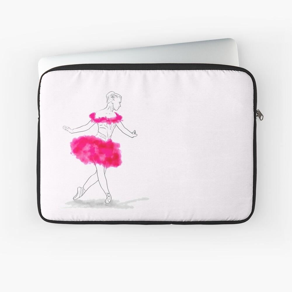 Pink Ballerina illustration Laptop Sleeve