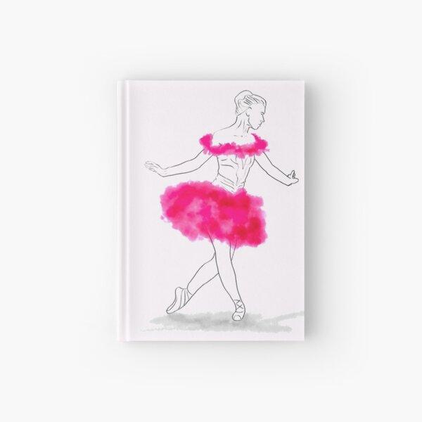 Pink Ballerina illustration Hardcover Journal