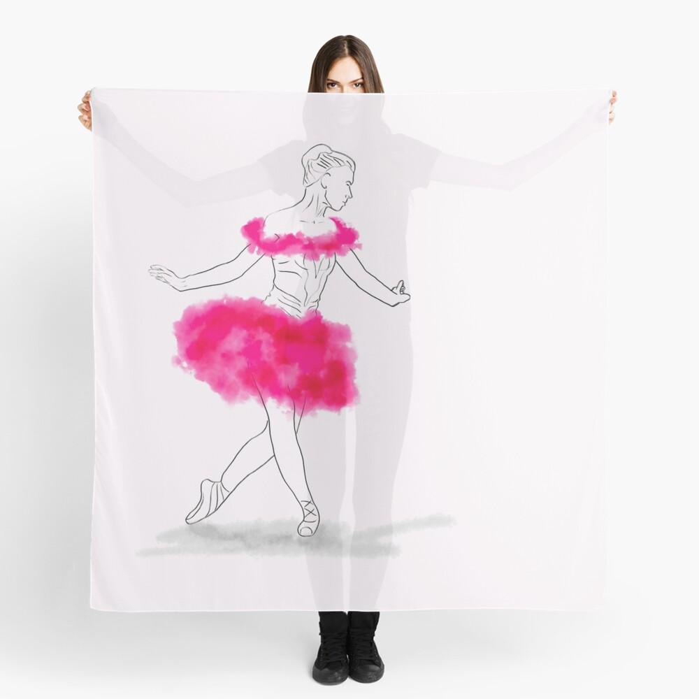 Pink Ballerina illustration Scarf