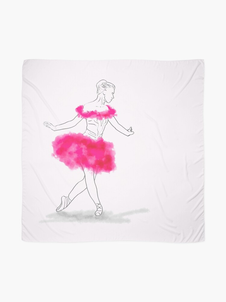 Alternate view of Pink Ballerina illustration Scarf