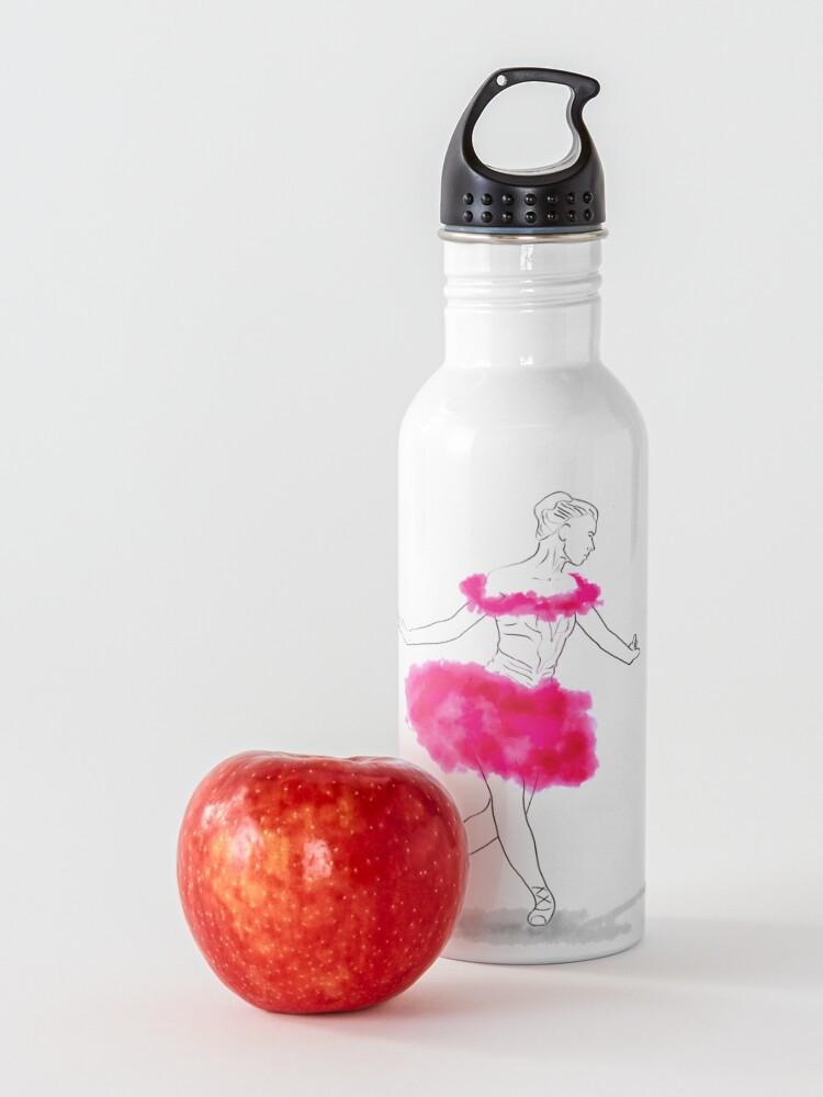 Alternate view of Pink Ballerina illustration Water Bottle