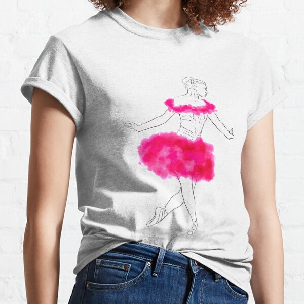 Pink Ballerina illustration Classic T-Shirt