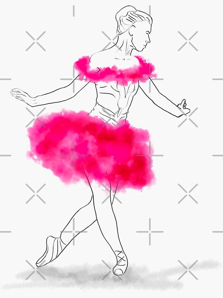 Pink Ballerina illustration by nobelbunt