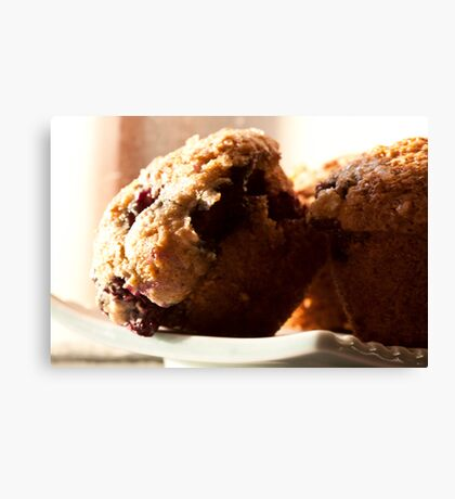 Muffin's wrong with blueberries Canvas Print