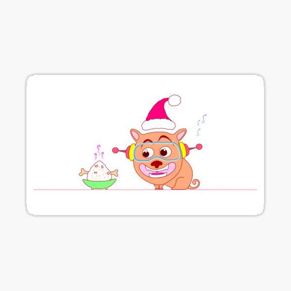 The Adventures of Cyber Pug 2020 - Santa Pug Sticker