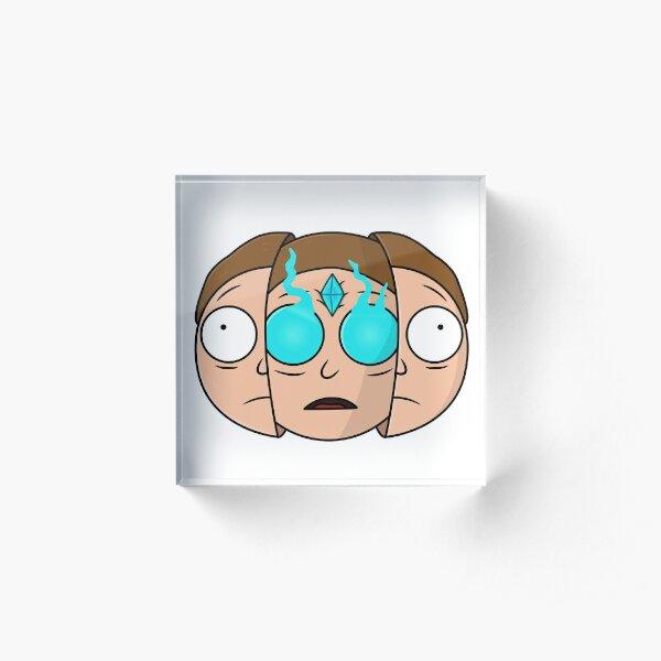 God Morty (Rick and Morty) Acrylic Block