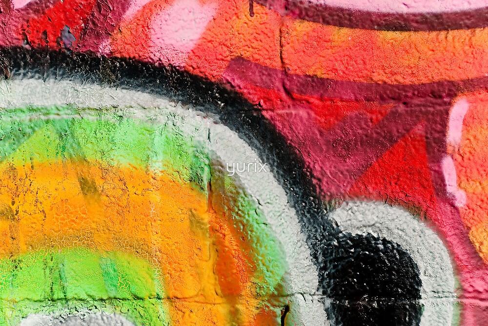 Textured Graffiti Closeup by yurix