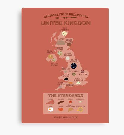 Regional Fried Breakfasts of the United Kingdom Canvas Print