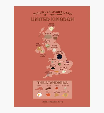 Regional Fried Breakfasts of the United Kingdom Photographic Print