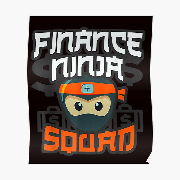 ninja finance guy multitasking cfo team accountant crew t shirt 222 Poster