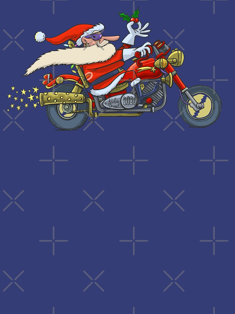 Santa Claus ride on motorcycle by duxpavlic