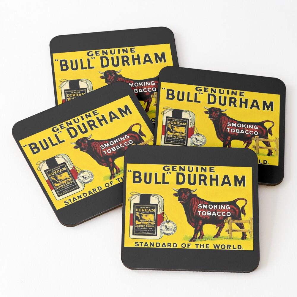 BULL DURHAM: Vintage Smoking Tobacco Advertising Print Coasters (Set of 4)