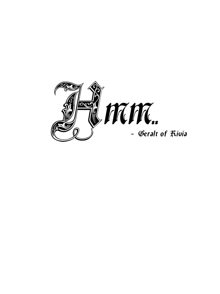Hmm - Geralt of Rivia by Doomgriever