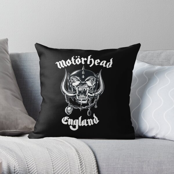 Lemmy head Throw Pillow