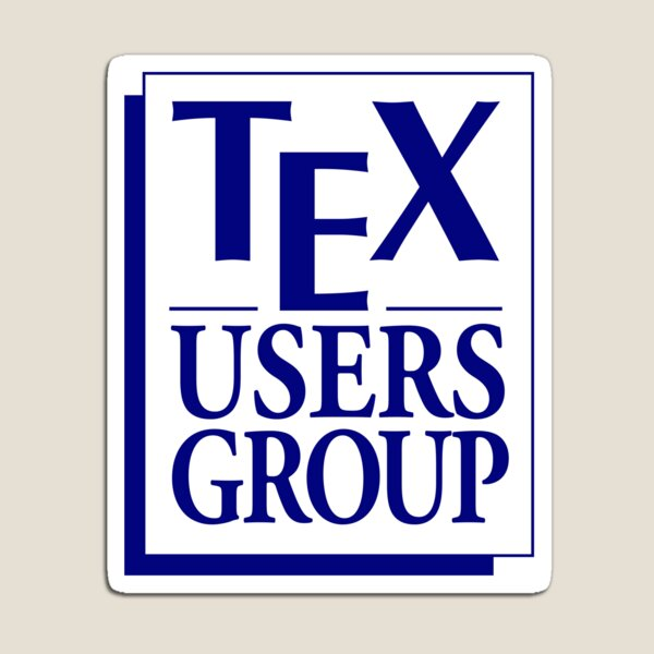 Tex Users Group Logo Magnet