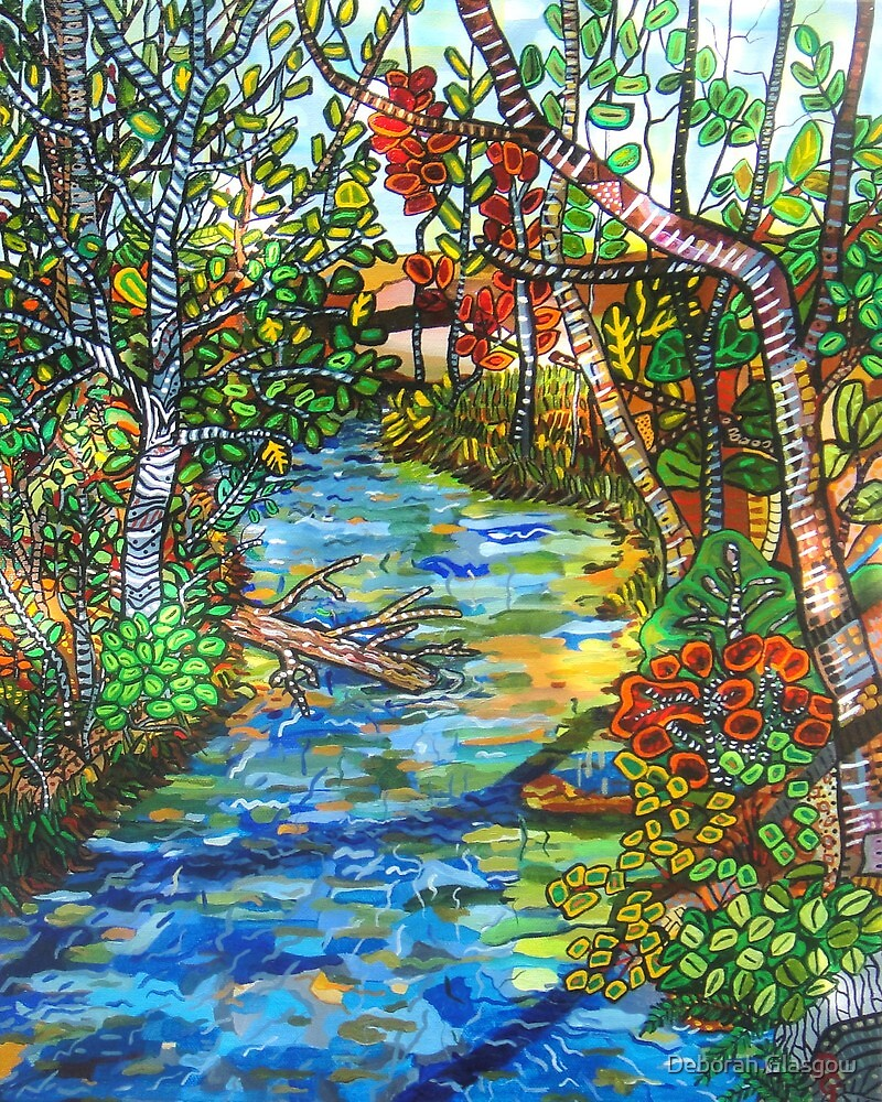 Afternoon At The Creek  SOLD by Deborah Glasgow