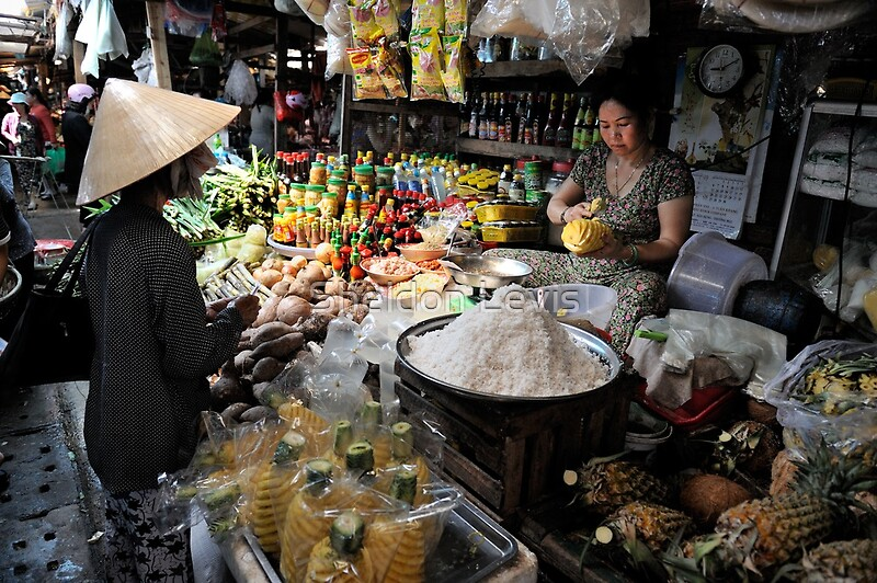 Quot Woman At Food Stall Preparing Fresh Pineapple Vung Tau