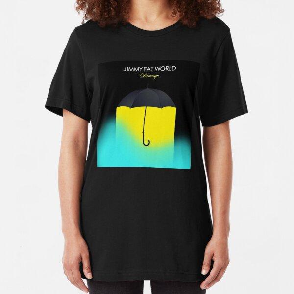 Jimmy Eat World Damage Album Cover Slim Fit T-Shirt