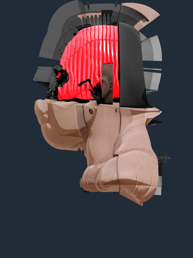 DISPLACEMIND II 12 2016 - Shirt (Cyberpunk Displacement 3D-Render Digital Art) von nenART-Official