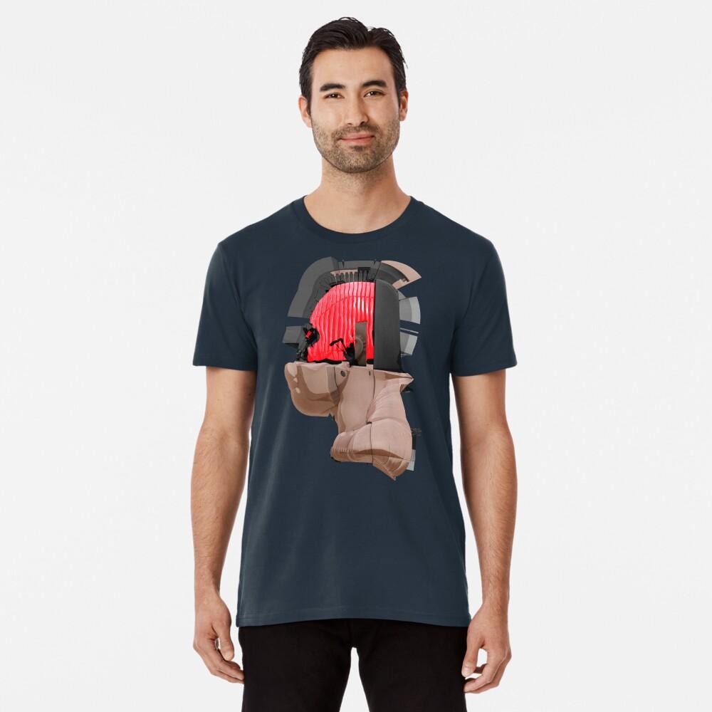 DISPLACEMIND II 12 2016 - Shirt (Cyberpunk Displacement 3D-Render Digital Art) Premium T-Shirt