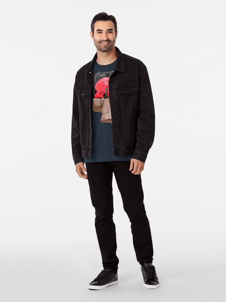 Alternative Ansicht von DISPLACEMIND II 12 2016 - Shirt (Cyberpunk Displacement 3D-Render Digital Art) Premium T-Shirt