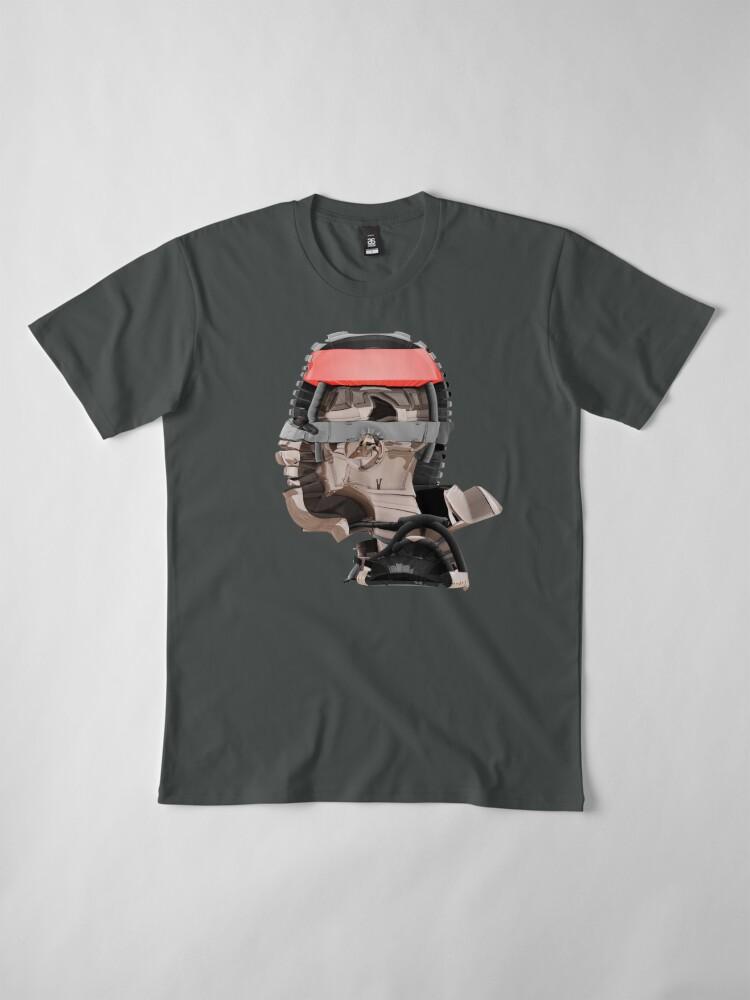 Alternative Ansicht von DISPLACEMIND III 12|2016 - Shirt (Cyberpunk Displacement 3D-Render Digital Art) Premium T-Shirt