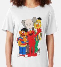 kaws uniqlo friendship cute Slim Fit T-Shirt