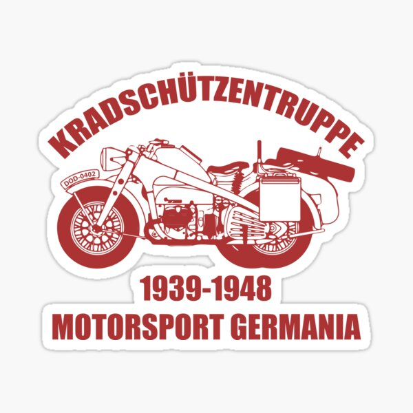 Kradschützentruppe - Motorsport Germania Pegatina