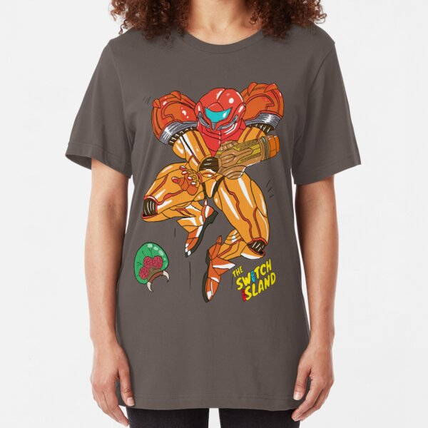 Samus On The Switch Island Slim Fit T-Shirt