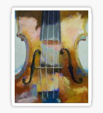 Violin Painting Sticker