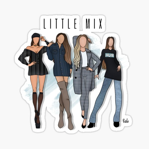 Little mix fashion drawing Sticker