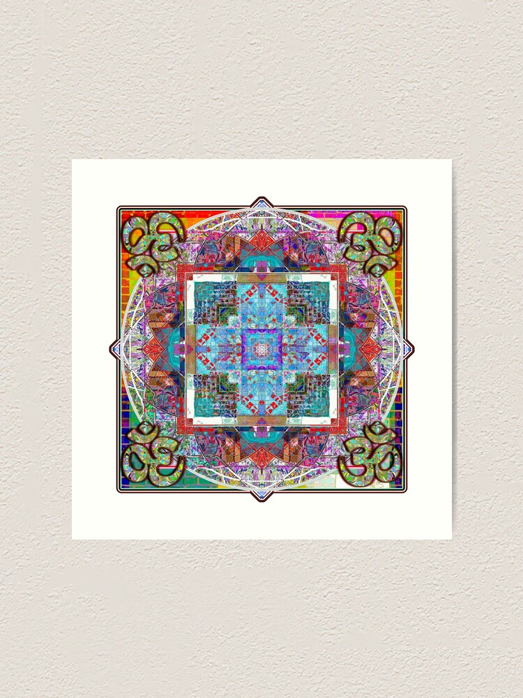 Alternate view of Om In Four Directions Art Print