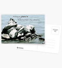 Peace on Your First Father's Day (loss of a son) Postcards
