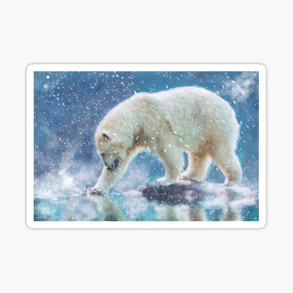 A polar bear at the water Sticker