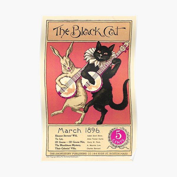 Vintage poster- The Black Cat - Shortstory Poster