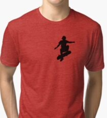 Skater Small - Black Tri-blend T-Shirt