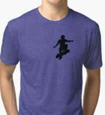 Skater Small - Black Tri-blend T-Shirt
