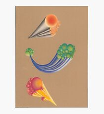 Colorful beautiful shapes for good mood Photographic Print