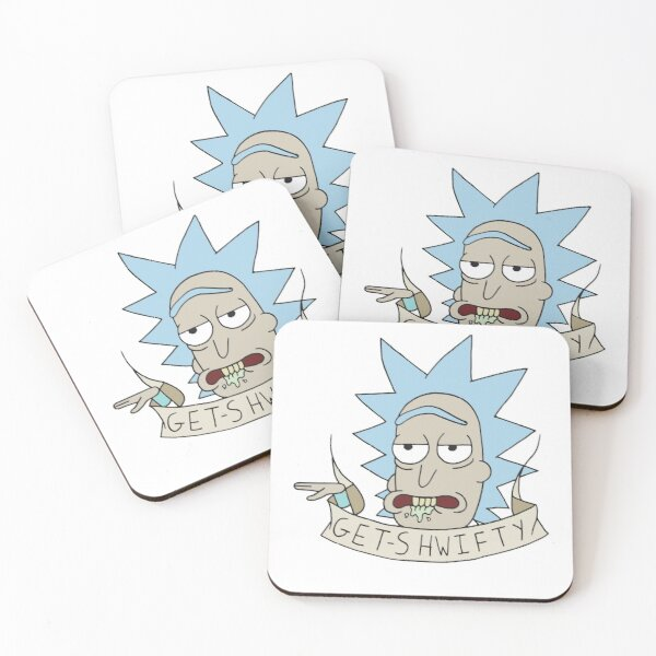 Rick & Morty - Get Shwifty Coasters (Set of 4)