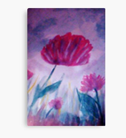 Red Poppy, watercolor Canvas Print
