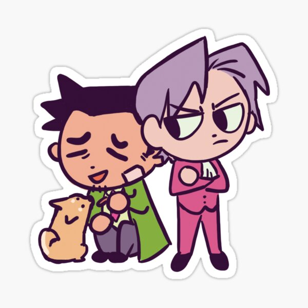 Edgeworth and Gumshoe (and Missile) Sticker