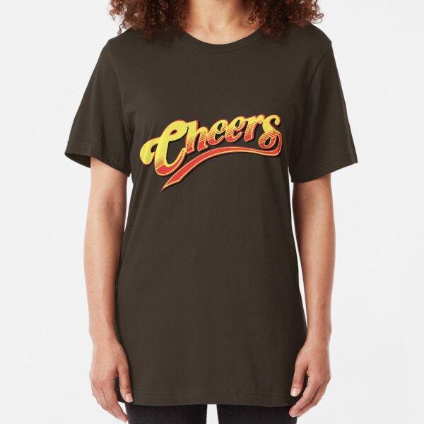Cheers Boston Retro Vintage  Slim Fit T-Shirt