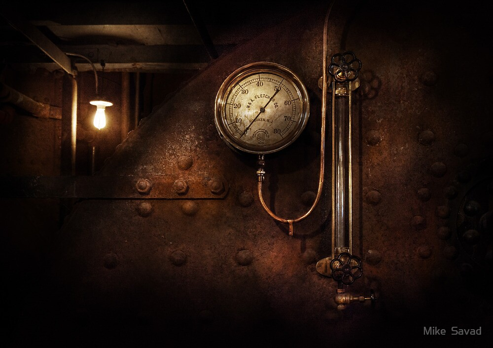 Steampunk - Boiler Gauge by Mike  Savad