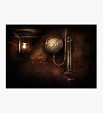 Steampunk - Boiler Gauge Photographic Print