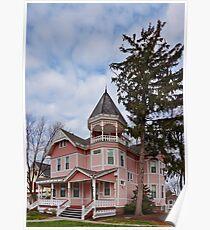 House - Victorian - Flemington, NJ - The Pink Lady Poster